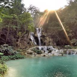 Kuang Si Falls by motorbike